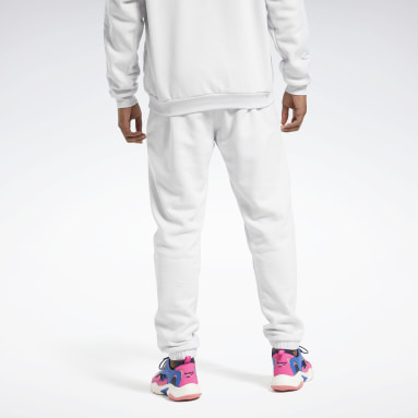 Men Training White MYT Quilted Pants