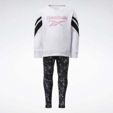 Mädchen Fitness & Training Two-Piece Reebok Marble Set Weiß