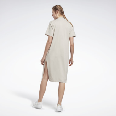 Frauen Classics Reebok Classics Long Dress Grau