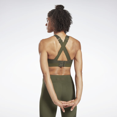 Women Studio Green Reebok PureMove+ Bra Motion Sense ™