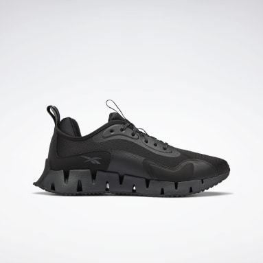 Men Running Black Zig Dynamica Shoes