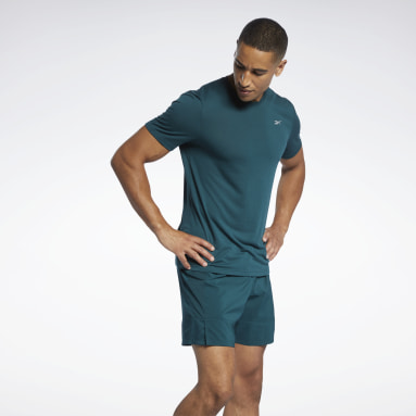 Men Trail Running Green Run Essentials Speedwick T-Shirt