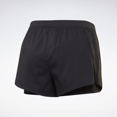 Frauen Trail Running Running Essentials Two-in-One Shorts Schwarz
