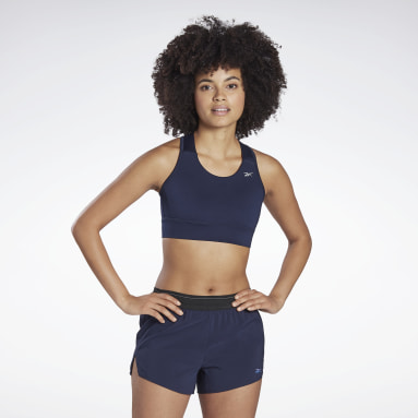 Women Running Blue Running Essentials High-Impact Bra