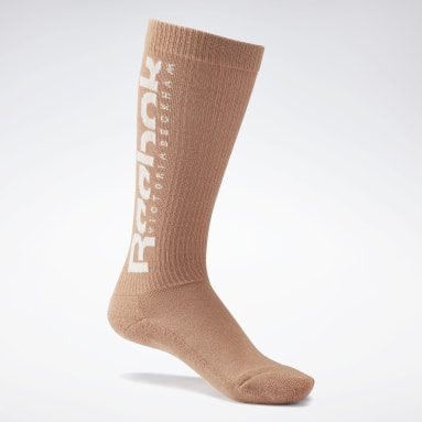 Women Classics Beige VB Basketball Socks
