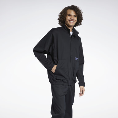 Men Classics Black Classics Washed Track Jacket