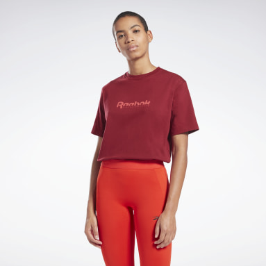Women Fitness & Training Burgundy VB Tee