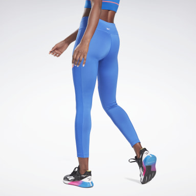 Licras Workout Ready Mesh Leggings Azul Mujer Fitness & Training