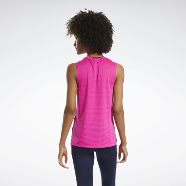 Women Cycling Workout Ready Mesh Tank Top