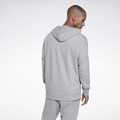 Men Fitness & Training Grey Training Essentials Mélange Hoodie