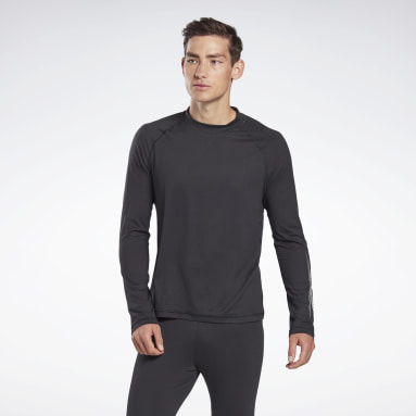 Mænd Hiking Black Thermowarm Touch Graphic Base Layer Top