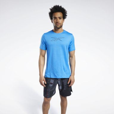 Men Fitness & Training Blue SmartVent Graphic Tee