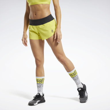 Women Cross Training Yellow Reebok CrossFit® Shorts