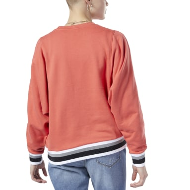 Kvinder Classics Orange Classics Big Logo Crew Sweatshirt