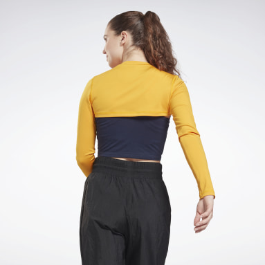 Crop top à manches longues MYT Or Femmes Fitness & Training