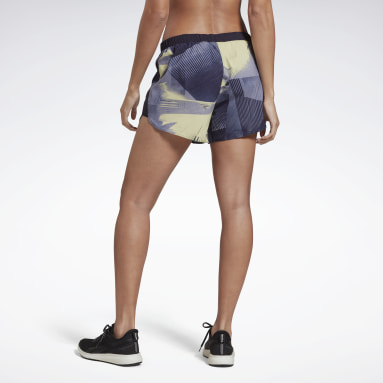 Women Running Purple Running Essentials 4 Inch Graphic Shorts