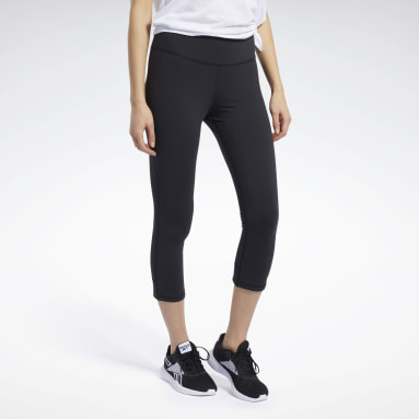 Women Cycling Black Reebok Lux 3/4 Tights 2.0