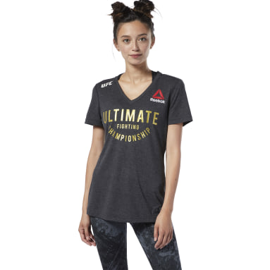 Camiseta UFC Fight Night Champ Walkout Negro Mujer Fitness & Training