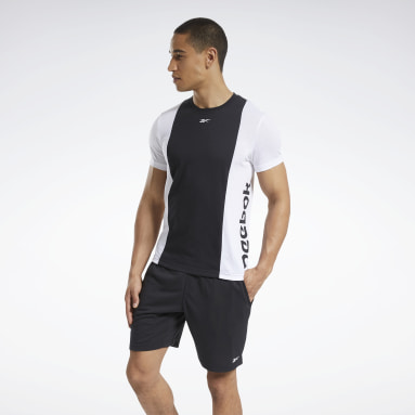 TE LL SS BLOCKED TEE Negro Hombre Fitness & Training