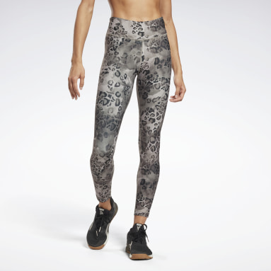 Licras Modern Safari Lux Bold Leggings Plomo Mujer Fitness & Training