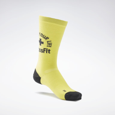 Chaussettes mi-montantes CrossFit® Engineered Jaune Cross Training