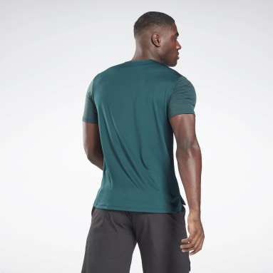 Men Fitness & Training Green Activchill Move T-Shirt