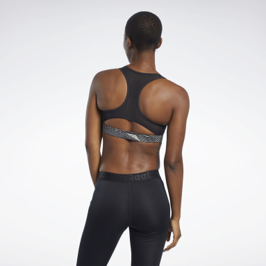 Women Yoga Beige Reebok Hero Medium-Impact Racer Bra