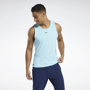 Men Pilates Blue Les Mills® Activchill Tank Top