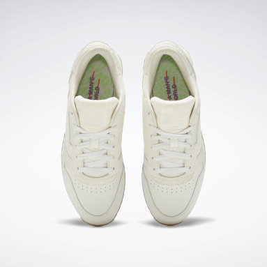 Women Classics White Classic Leather Ripple Shoes