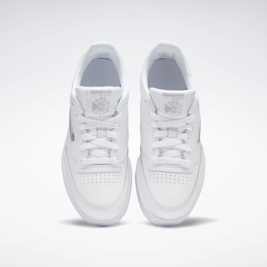 Kids Classics White Club C Shoes - Grade School