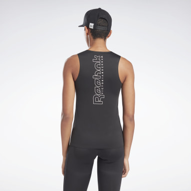 Women Fitness & Training Black VB Performance Tank Top