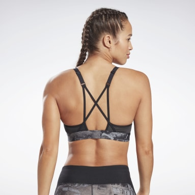 Sujetador deportivo Lux Strappy Padded Negro Mujer Dance