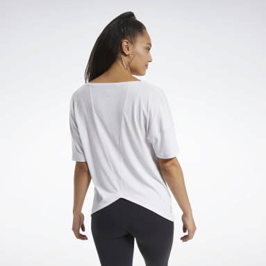 Remera ACTIVCHILL+COTTON Blanco Mujer Fitness & Training