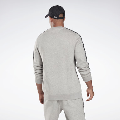 Men Fitness & Training Grey Training Essentials Tape Crew Sweatshirt