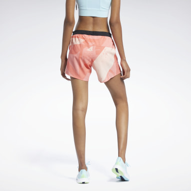 Short Run Essentials Allover Print Donna Trail Running