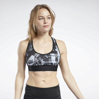 Top MYT Low-Impact Printed Preto Mulher Fitness & Training
