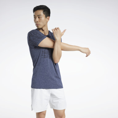 Men Studio Blue United By Fitness MyoKnit Tee