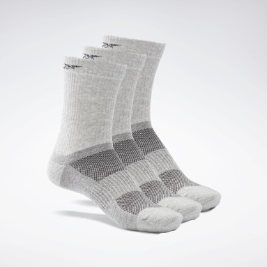 Fitness & Training Grey Active Foundation Mid-Crew Socks 3 Pairs