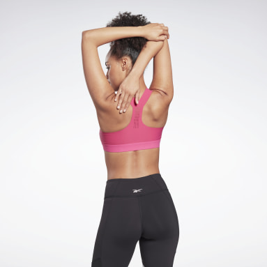 Women Studio Pink Reebok PureMove Bra Motion Sense ™