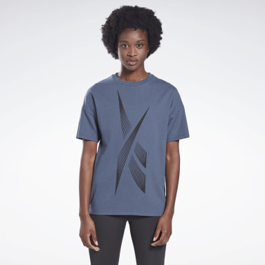 Women Studio Blue Vector Graphic Tee