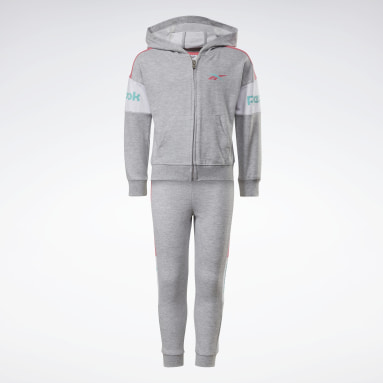 Girls Fitness & Training Grå Two-Piece Reebok Classic Full-Zip Hoodie and Joggers Set