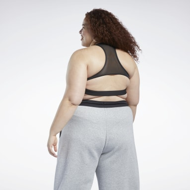 Kvinder Cycling Black Reebok Lux Racer Medium-Impact Sports Bra (Plus Size)