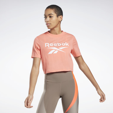 Women Training Red Reebok Identity Cropped T-Shirt
