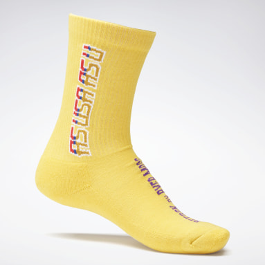 Classics Yellow Reebok by Pyer Moss Crew Socks