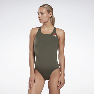 Dam CrossFit Grön CrossFit® Games One-Piece Swimsuit