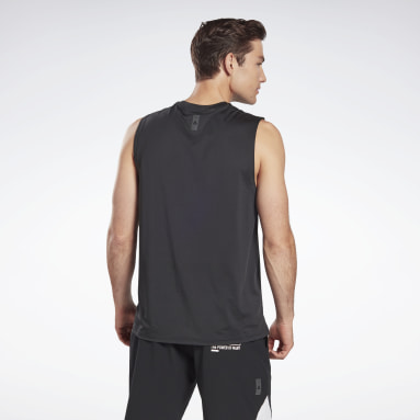 Men Studio Black LES MILLS® SmartVent Sleeveless Tee