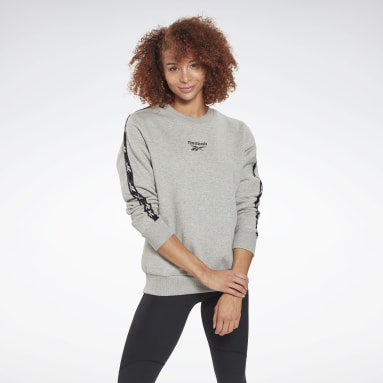 Frauen Fitness & Training Training Essentials Crew Sweatshirt Grau