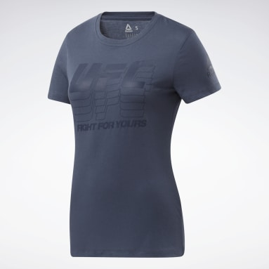 Women Combat Blue UFC Fan Gear Logo T-Shirt