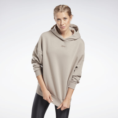 Women Pilates Grey Retro Oversize Hoodie