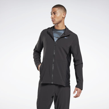 Men Trail Running Black Run Track Jacket